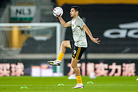 30th October 2020; Molineux Stadium, Wolverhampton, West Midlands, England; English Premier League Football, Wolverhampton Wanderers versus Crystal Palace; Raúl Jiménez of Wolverhampton Wanderers warms-up prior to the match
