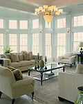 Transitional Great Room on the Rappahannock River in Fredericksburg.
