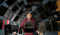 Covid hero Rob Franks has donated over 450 second hand laptops to schools.