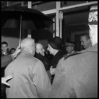 Muret (Haute-Garonne). 3 Janvier 1966. Vue des obsèques de Vincent Auriol à Muret.