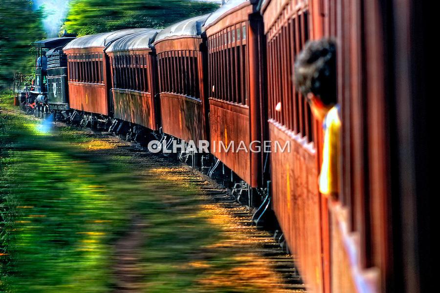 Viagem de trem Maria-Fumaça, Tiradentes a São João Del Rei.Minas Gerais. 2009. Foto de Sergio Amaral.
