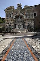 Fontana dell'Organo.Villa d'Este di Tivoli, patrimonio mondiale dell' UNESCO..Organ fountain.Villa d'Este is included in the UNESCO world heritage list.