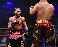 LOS ANGELES - JANUARY 30: Caleb Plant and Caleb Truax during their fight on Fox Sports PBC fight night at the Shrine Auditorium and Expo Hall in Los Angeles, California on January 30, 2021. (Photo by Frank Micelotta/Fox Sports)