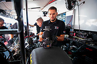 Aug 18, 2019; Brainerd, MN, USA; Crew members for NHRA top fuel driver Steve Torrence during the Lucas Oil Nationals at Brainerd International Raceway. Mandatory Credit: Mark J. Rebilas-USA TODAY Sports