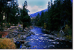Late summer camping along the Icicle River, near Leavenworth, Washington and the Alpine Lakes Wilderness in the Cascade Mountains.