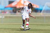 Bradenton, FL - Sunday, June 12, 2018: Maya Antoine prior to a U-17 Women's Championship 3rd place match between Canada and Haiti at IMG Academy. Canada defeated Haiti 2-1.