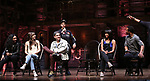"Jennie Harney, Eliza Ohman, Ryan Vasquez, David Guzman, Karla Garcia and Zelig Williams from the 'Hamilton' cast during a Q & A before The Rockefeller Foundation and The Gilder Lehrman Institute of American History sponsored High School student #EduHam matinee performance of ""Hamilton"" at the Richard Rodgers Theatre on June 6, 2018 in New York City."