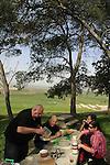 Israel, Jezreel Valley, a picnic at Tel Shimron