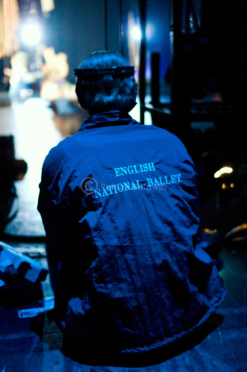 English National Ballet Dima Gruzdyev watching from the wings