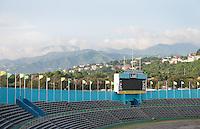 Kingston, Jamaica - Thursday, September 6, 2012: USA in Kingston for the WCQ against Jamaica.
