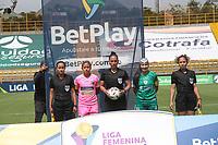 BOGOTÁ COLOMBIA, 22-07-2021: La Equidad y Llaneros en partido por la fecha 3 como parte de la Liga Femenina BetPlay DIMAYOR 2020 jugado en el estadio Metropolitano de Techo de Chía Bogotá / Equidad and Llaneros in match for the date 3 as part of Women's BetPlay DIMAYOR 2021 League, played at Metropolitano de Techo stadium in Bogota. Photo: VizzorImage / Felipe Caicedo / Staff