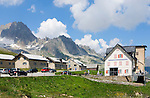 Switzerland, Canton Valais, Hotel Furkablick at Furka Pass Road - border between cantones Valais and Uri