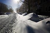 Brooklyn, New York<br /> December 27, 2010<br /> <br /> Snow blizzard on the East Coast. Buried cars on Prospect Park West.