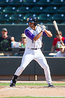 Keenyn Walker (4) of the Winston-Salem Dash at bat against the Wilmington Blue Rocks at BB&T Ballpark on July 6, 2014 in Winston-Salem, North Carolina.  The Dash defeated the Blue Rocks 7-1.   (Brian Westerholt/Four Seam Images)