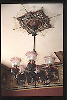 Victorian Chandelier at Ann Starrett Mansion, Port Townsend, Washington, US