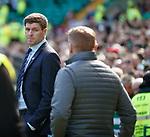 31.03.2019 Celtic v Rangers: Steven Gerrard and Neil Lennon