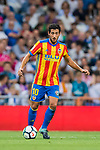 Daniel Parejo Munoz of Valencia CF in action during their La Liga 2017-18 match between Real Madrid and Valencia CF at the Estadio Santiago Bernabeu on 27 August 2017 in Madrid, Spain. Photo by Diego Gonzalez / Power Sport Images