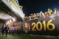 Pasadena, CA - Tuesday June 07, 2016: Paraguay  during a Copa America Centenario Group A match between Colombia (COL) and Paraguay (PAR) at Rose Bowl Stadium.