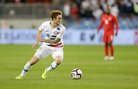 TORONTO, ON - OCTOBER 15: Josh Sargent #19 of the United States turns and moves with the ball during a game between Canada and USMNT at BMO Field on October 15, 2019 in Toronto, Canada.