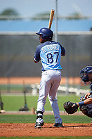 Tampa Bay Rays Angel Perez (87) during a minor league Spring Training intrasquad game on April 1, 2016 at Charlotte Sports Park in Port Charlotte, Florida.  (Mike Janes/Four Seam Images)