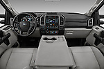 Stock photo of straight dashboard view of 2017 Ford F-350 XLT-Crew 4 Door Pickup Dashboard