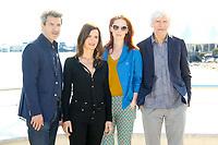 Thierry Godart, Caroline Proust, Audrey Fleurot et Philippe Duclos posent lors du photocall d ENGRENAGES pendant le MIPTV a Cannes, le lundi 3 avril 2017.