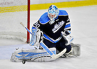 2 December 2011: University of Maine Black Bear goaltender Dan Sullivan, a Sophomore from York, PA, makes a second period save against the University of Vermont Catamounts at Gutterson Fieldhouse in Burlington, Vermont. The Catamounts fell to the Black Bears 6-4 in the first game of their 2-game Hockey East weekend series. Mandatory Credit: Ed Wolfstein Photo