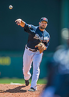 14 March 2016: Atlanta Braves pitcher Jim Johnson, on the mound during a Spring Training pre-season game against the Tampa Bay Rays at Champion Stadium in the ESPN Wide World of Sports Complex in Kissimmee, Florida. The Braves shut out the Rays 5-0 in Grapefruit League play. Mandatory Credit: Ed Wolfstein Photo *** RAW (NEF) Image File Available ***