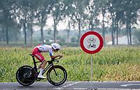 """no biking"" for Andrei Stepanov (RUS)<br /> <br /> World Championships U23 Men - ITT <br /> Time Trial from Knokke-Heist to Bruges (30.3km)<br /> <br /> UCI Road World Championships - Flanders Belgium 2021<br /> <br /> ©kramon"