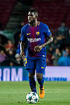 Samuel Umtiti of FC Barcelona in action during the UEFA Champions League 2017-18 match between FC Barcelona and Olympiacos FC at Camp Nou on 18 October 2017 in Barcelona, Spain. Photo by Vicens Gimenez / Power Sport Images