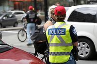 Pompier, Policier et Cols bleus durant les negociations avec l'adminstration Coderre, 2014<br /> <br /> Photo : Agence Quebec Presse