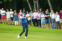 David Howell drives on the 4th fairway during the BMW PGA Golf Championship at Wentworth Golf Course, Wentworth Drive, Virginia Water, England on 27 May 2017. Photo by Steve McCarthy/PRiME Media Images.