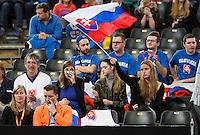 Februari 08, 2015, Apeldoorn, Omnisport, Fed Cup, Netherlands-Slovakia, Slovakian supporters<br /> Photo: Tennisimages/Henk Koster