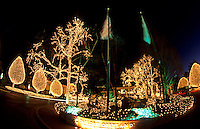 Christmas decorations with lights, Opryland Hotel, Nashville, Tennessee, USA