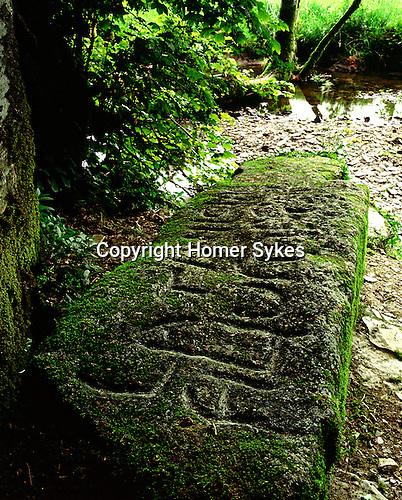 King Arthurs Grave, Slaughterbridge, Cornwall. Uk. Celtic Britain published by Orion