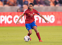 HOUSTON, TX - JANUARY 28: Shirley Cruz #10 of Costa Rica dribbles during a game between Costa Rica and Panama at BBVA Stadium on January 28, 2020 in Houston, Texas.