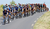 July 9th 2021. Carcassonne, Languedoc, France;  VAKOC Petr (CZE) of ALPECIN-FENIX, DECLERCQ Tim (BEL) of DECEUNINCK - QUICK-STEP  leading the pack  during stage 13 of the 108th edition of the 2021 Tour de France cycling race, a stage of 219,9 kms between Nimes and Carcassonne.