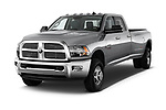 2017 Ram 3500 Big Horn 4 Door Pick Up angular front stock photos of front three quarter view