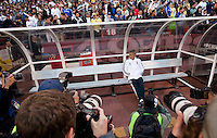Jose Mourinho surrounded by photographers before the match. Real Madrid defeated Club America 3-2 at Candlestick Park in San Francisco, California on August 4th, 2010.