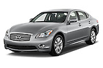 2015 Infiniti Q70 Base 4 Door Sedan Angular Front stock photos of front three quarter view