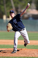 February 26, 2010:  Pitcher Kevin Crimmel of the Villanova Wildcats during the Big East/Big 10 Challenge at Raymond Naimoli Complex in St. Petersburg, FL.  Photo By Mike Janes/Four Seam Images