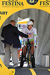 Marcel Kittel (GER) Team Argos-Shimano waits to start the Prologue of the 99th edition of the Tour de France 2012, a 6.4km individual time trial starting in Parc d'Avroy, Liege, Belgium. 30th June 2012.<br /> (Photo by Eoin Clarke/NEWSFILE)
