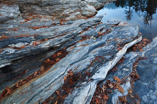 Rock formations at Woodall Shoals