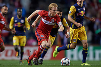 Bridgeview, IL - Wednesday October 25, 2017: The New York Red Bulls play the Chicago Fire in a Major League Soccer Eastern Conference Knockout round match at Toyota Park.