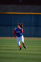 Brannon Mondragon (2) of Penn Foster Online School in Stuart, Florida during the Baseball Factory All-America Pre-Season Tournament, powered by Under Armour, on January 13, 2018 at Sloan Park Complex in Mesa, Arizona.  (Mike Janes/Four Seam Images)
