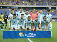 PEREIRA – COLOMBIA, 27-01-2020: Argentina y Ecuador en partido de la fecha 4, grupo A, del CONMEBOL Preolímpico Colombia 2020 jugado en el estadio Hernán Ramírez Villegas de Pereira, Colombia. / Argentina and Ecuador in match of the date 4, group A, for the CONMEBOL Pre-Olympic Tournament Colombia 2020 played at Hernan Ramirez Villegas stadium in Pereira, Colombia. . Photo: VizzorImage / Julian Medina / Cont