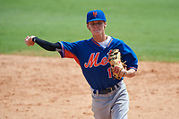 Branden Fryman (13) of Tate High School in Molino, Florida playing for the New York Mets scout team during the East Coast Pro Showcase on July 29, 2015 at George M. Steinbrenner Field in Tampa, Florida.  (Mike Janes/Four Seam Images)