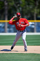 Boston Red Sox Jose Sermo (31) during practice before a minor league Spring Training game against the Baltimore Orioles on March 16, 2017 at the Buck O'Neil Baseball Complex in Sarasota, Florida. (Mike Janes/Four Seam Images)