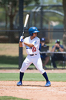 AZL Dodgers pinch hitter Jeremiah Vison (10) at bat during an Arizona League game against the AZL Padres 2 at Camelback Ranch on July 4, 2018 in Glendale, Arizona. The AZL Dodgers defeated the AZL Padres 2 9-8. (Zachary Lucy/Four Seam Images)