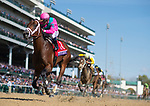 November 3, 2018: City of Light #1, ridden by Javier Castellano, wins the Breeders' Cup Dirt Mile on Breeders' Cup World Championship Saturday at Churchill Downs on November 3, 2018 in Louisville, Kentucky. Scott Serio/Eclipse Sportswire/CSM